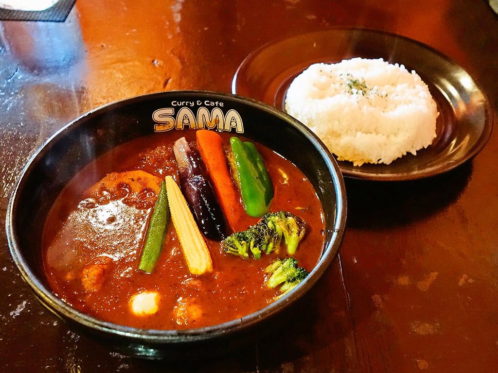 Curry&Cafe SAMA 北海道神宮前店(宮の森店)「ハンバーグ野菜カリー」