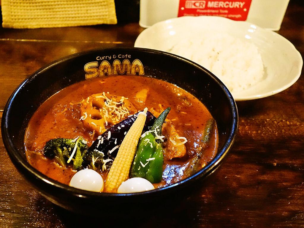 Curry&Cafe SAMA 北大前店「ポーク野菜カリー」