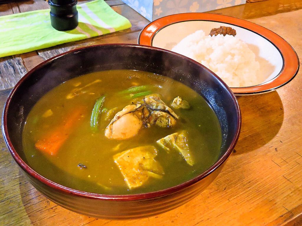 村上カレー店 プルプル「かきの青汁カレー」