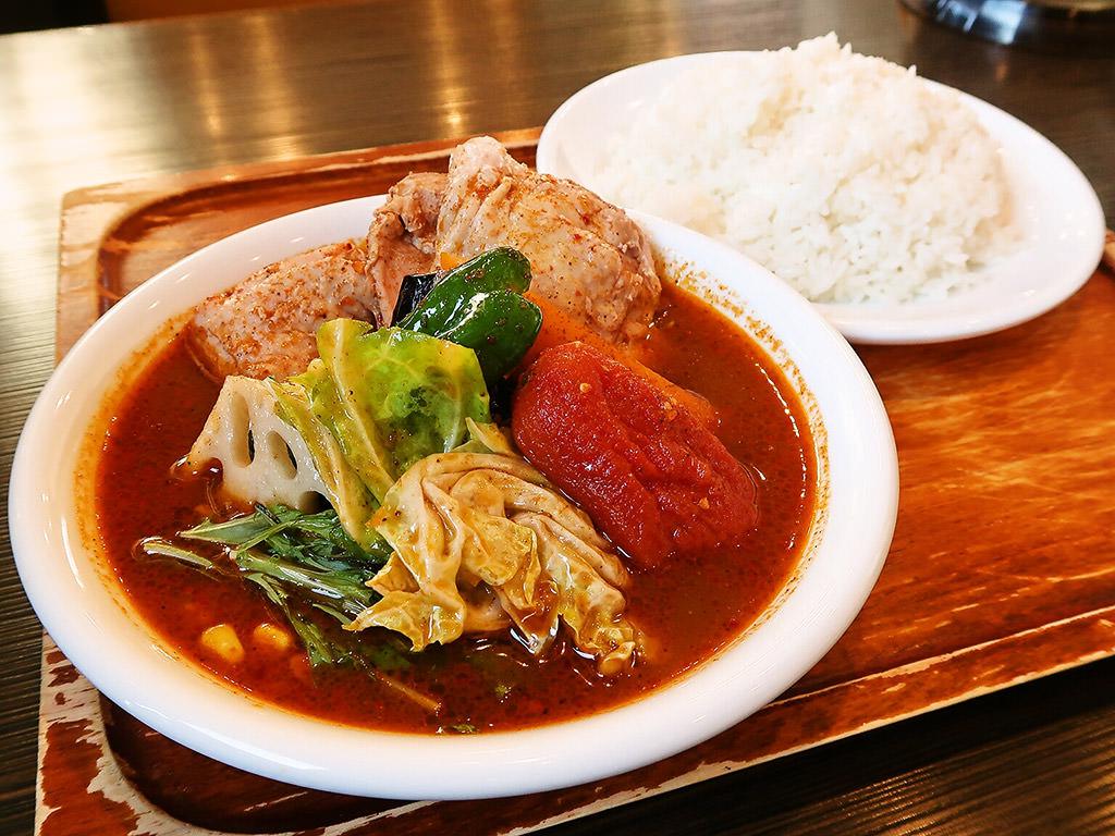 スープカレー専門店 木多郎 岩見沢店「チキン野菜カレー」
