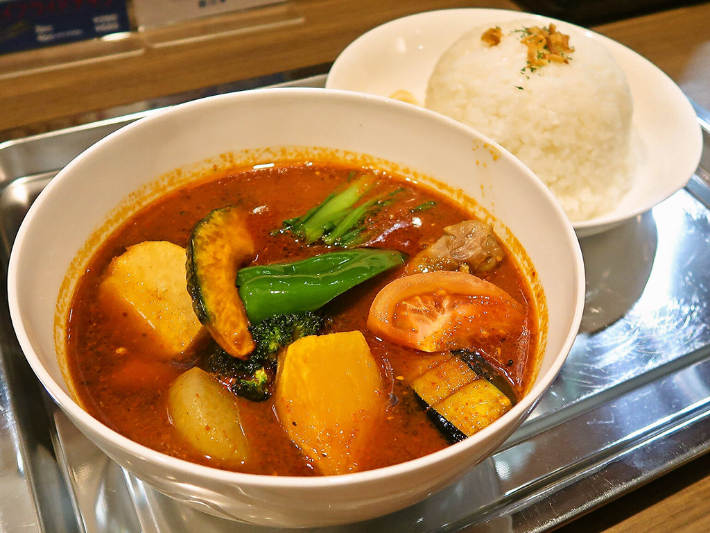 グルグルカリー (札幌市西区に移転OPEN)「野菜たっぷりチキンカリー」