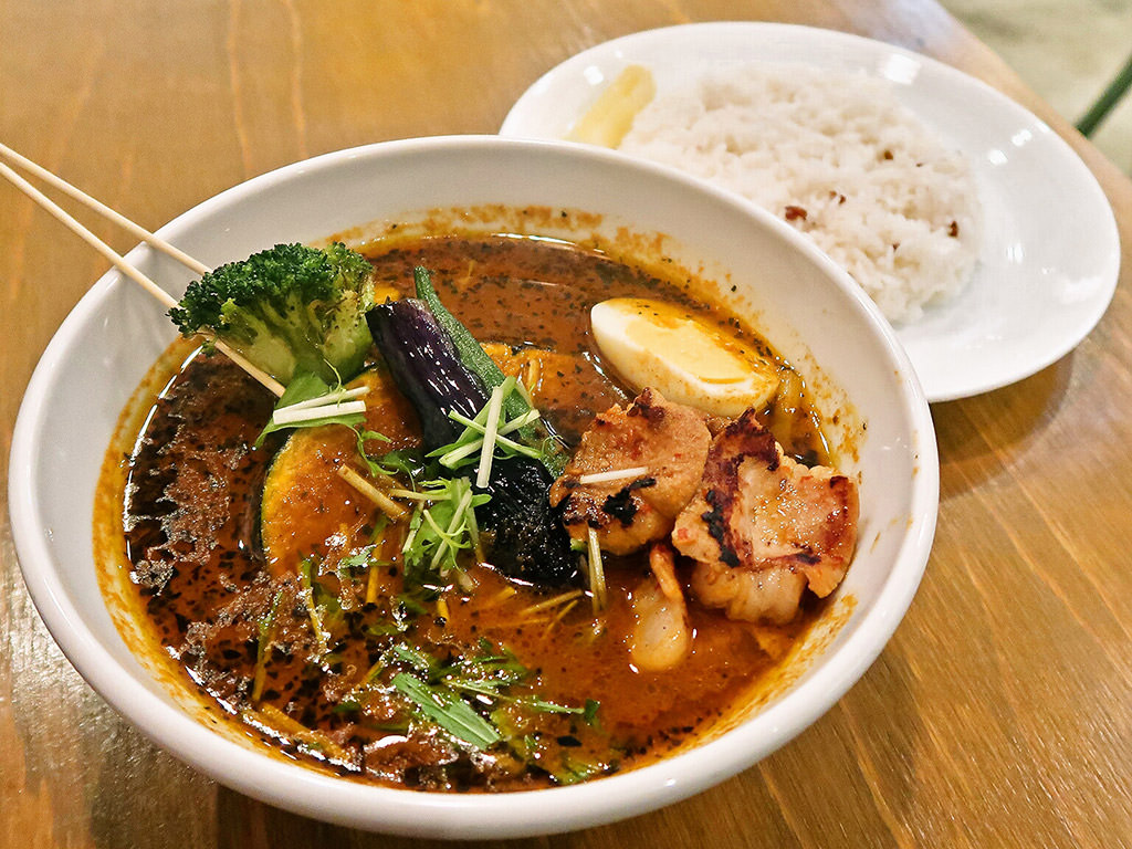 soup curry Suage2 (すあげ2)「北海道産 牛もつ and 野菜カレー」