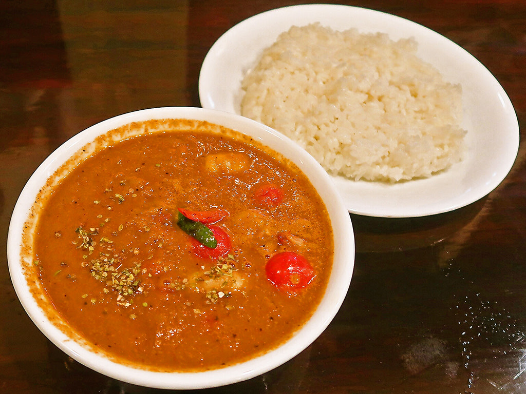 curry 草枕「海老とプチトマト」