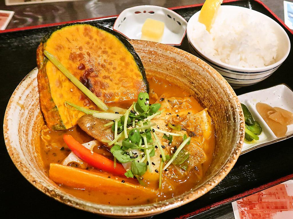 スープカリー 奥芝商店 真駒内 眞栄荘「季節の野菜カリー」